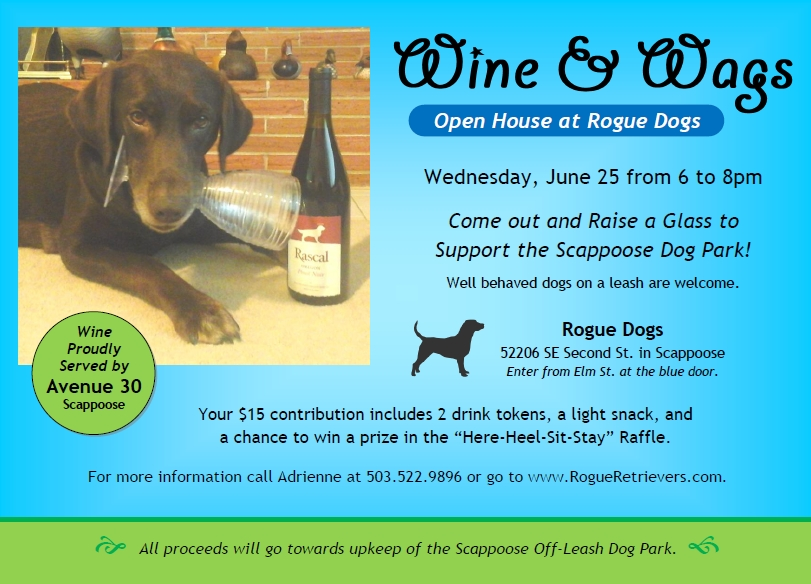 Wine&Wags Open House at Rogue Dogs