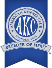 american kennel club logo breeder of merit designation